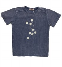 Ribbed Denim S/S Dot Tee Light