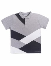 Colorcblock S/S Polo Grey/Whit