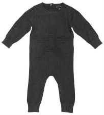 Knit Star Romper Charcoal 12M