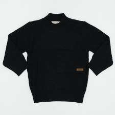 Textured Pocket Sweater Black