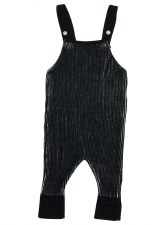 Ribbed Overalls Black/White 9M