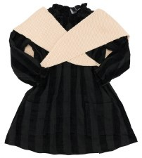 Velvet Striped Dress W/ Wrap B