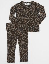 Leopard Print Baby Set Charcoa