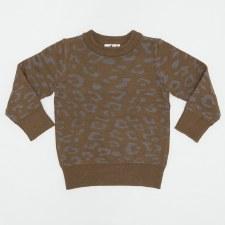 Spot Print Sweater Cognac 6