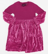 Crushed Velour Ribbed Dress Be