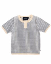 Grid S/S Sweater Blue/Grey 3