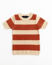 Contrast Striped S/S Sweater A