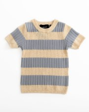 Contrast Striped S/S Sweater B