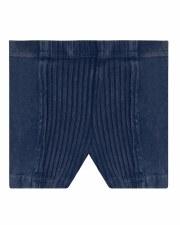 Denim Wash Shorts W/ Rib Mediu