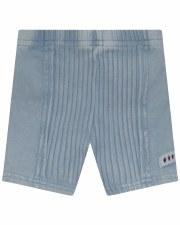 Denim Wash Shorts W/ Rib Light
