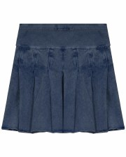 Denim Wash Pleated Skirt Mediu