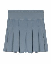 Denim Wash Pleated Skirt Light