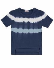 Tie Dye Striped S/S Tee Blue 2