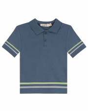 S/S Polo W/ Stripes Blue 5