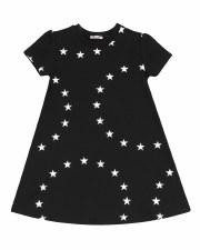 Dress W/ White Stars Black 2