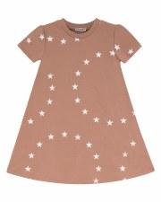 Dress W/ White Stars Mauve 2