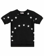 S/S Tee W/ White Stars Black 3