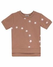S/S Tee W/ White Stars Mauve 6