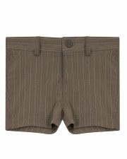 Pinstripe Stretch Shorts Khaki