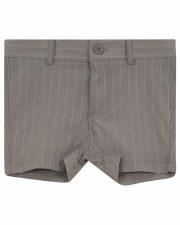 Pinstripe Stretch Shorts Grey