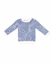 Geometric Knit Sweater Blue 2