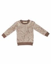 Geometric Knit Sweater Cocoa 2