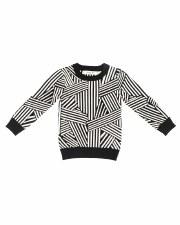 Geometric Knit Sweater Black 2
