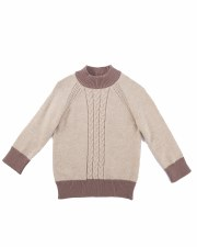 Cable Knit Contrast Sweater Oa