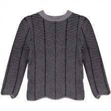 Herrinbone Sweater Grey 3