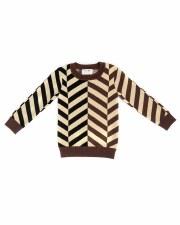 Angled Stripe Sweater Chocolat