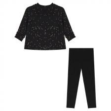 Gold Speckled Baby Set Black 1