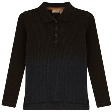 Ribbed Ombre Polo Charcoal 5