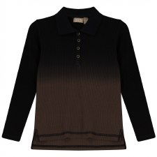 Ribbed Ombre Polo Coffee 6