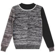 Marled Sweater Black/White 3