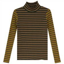 Striped Ribbed Mockneck Multi