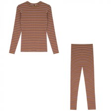 Ribbed Stripe PJ Pink 2