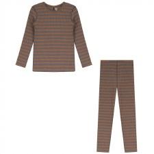 Ribbed Stripe PJ Grey 18M
