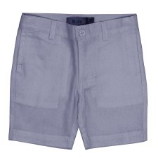 Cotton Woven Shorts Blue/Grey