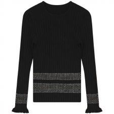 Teen Knit Top Black XXS(12)