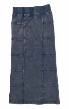 Long Denim Skirt Light 10