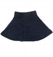 Panelled Denim Skirt Dark 7