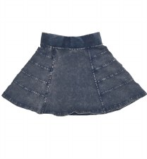 Panelled Denim Skirt Light 6
