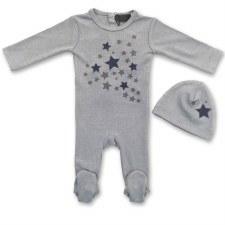 Stretchie Set W/ Stars Blue 3M