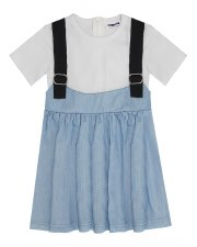 Dress W/ Suspenders Denim 2