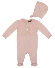 Knit Stretchie W/ Bonnet Pink