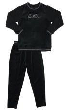 Velour PJ W/ Sherpa Sleeves Bl