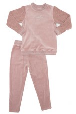 Velour PJ W/ Sherpa Sleeves Ma