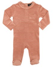 Rib Velour Stretchie Mauve 3M