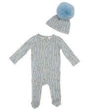 Charm Stretchie Set Blue 12M