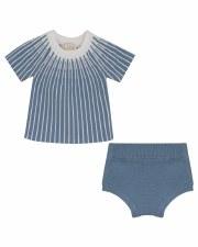 Knit Bloomer Set Blue 9M